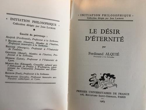 ferdinand alquié, René Descartes, Kant, Nicolas Malebranche, Sinoza, André Breton,