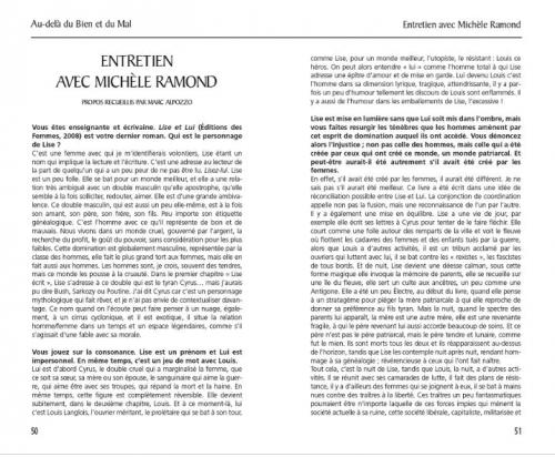 michèle ramond,lise et lui